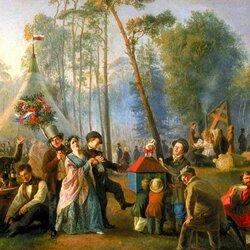 Пазл онлайн: Русский праздник Красная горка