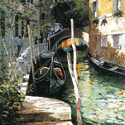 Пазл онлайн: Венецианские зарисовки