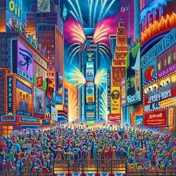 Пазл онлайн: Новый год на Таймс-сквер