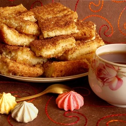 Пазл онлайн: Пирог медовый с творогом