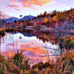 Пазл онлайн: Sunset in Rivendell / Закат в Ривенделле
