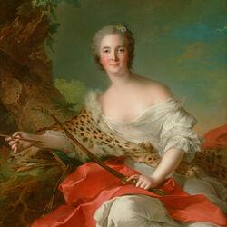 Пазл онлайн: Портрет Констанс Габриель Магделен Боннье-де-ла-Моссон в образе Дианы