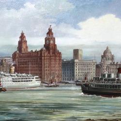 Пазл онлайн: Морской порт. Ливерпуль