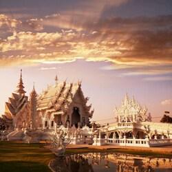 Пазл онлайн: Белый храм. Таиланд